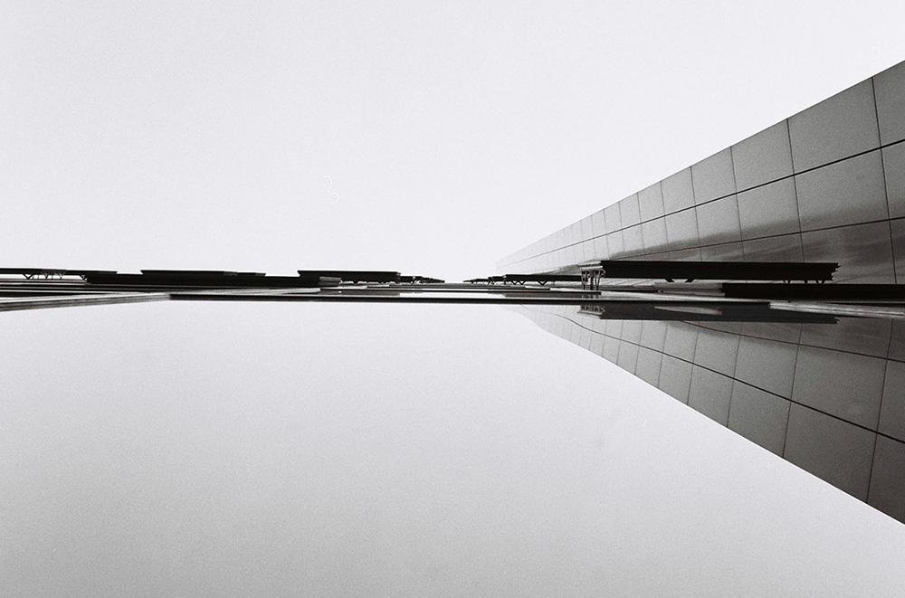 minimal grey building